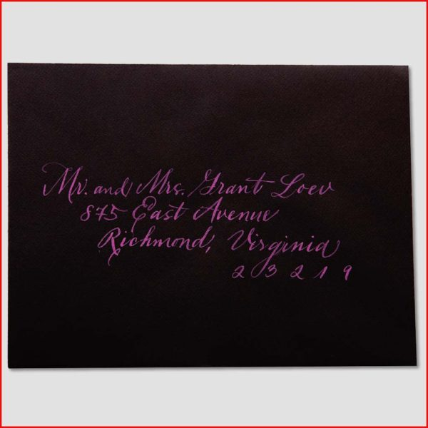 MJW Calligraphy | Michael Weinstein | Envelopes 01