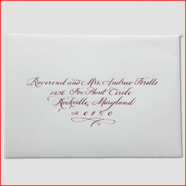 MJW Calligraphy | Michael Weinstein | Envelopes 19