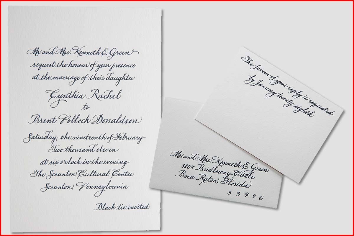MJW Calligraphy | Michael J. Weinstein | Green Wedding 1edited