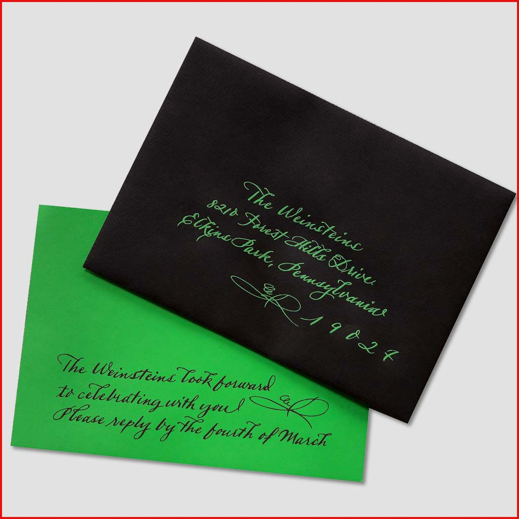 MJW Calligraphy | Michael Weinstein | Invitations 02