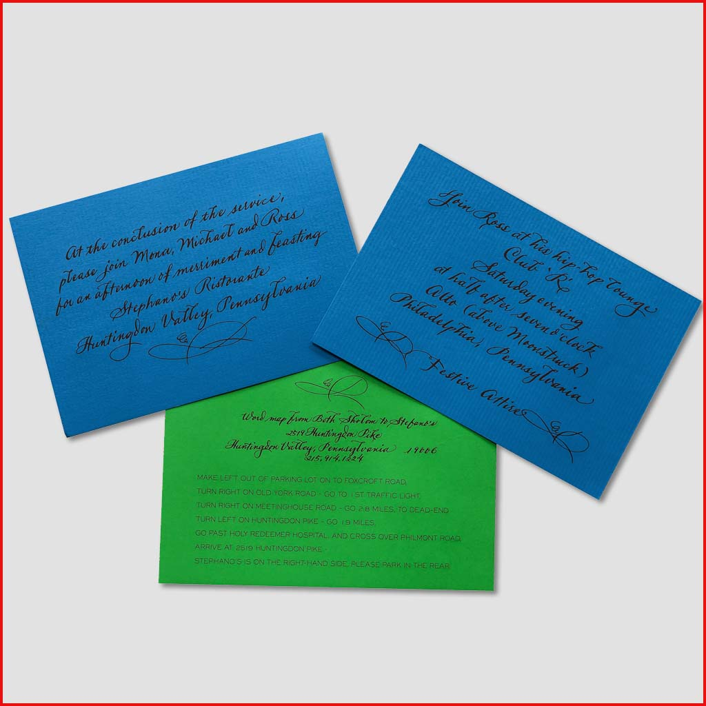 MJW Calligraphy | Michael Weinstein | Invitations 03