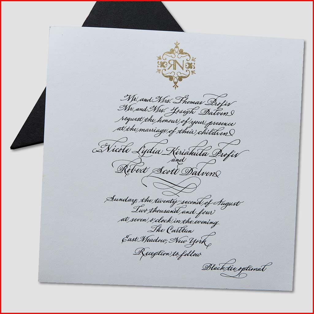 MJW Calligraphy | Michael Weinstein | Invitations 04