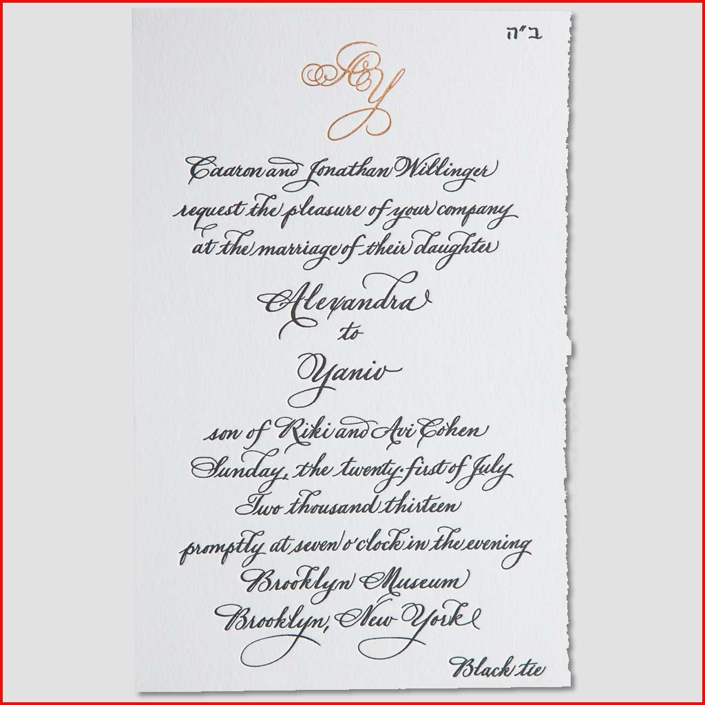 MJW Calligraphy | Michael Weinstein | Invitations 05