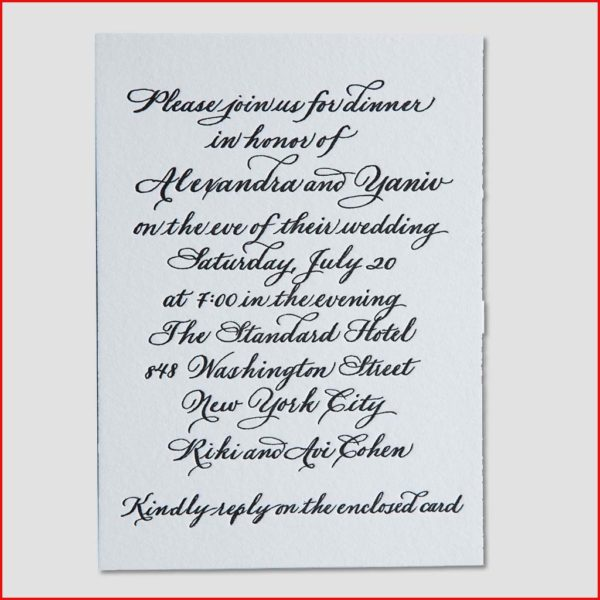 MJW Calligraphy | Michael Weinstein | Invitations 06