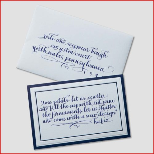 MJW Calligraphy | Michael Weinstein | Invitations 14