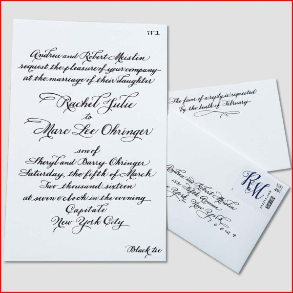 MJW Calligraphy | Michael J. Weinstein | Meislin Wedding 1edited