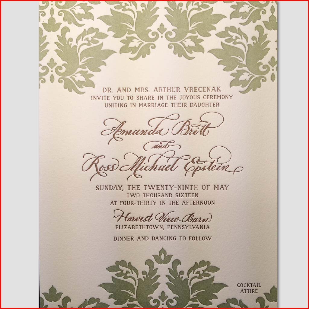 MJW Calligraphy | Michael Weinstein | Invitations 16
