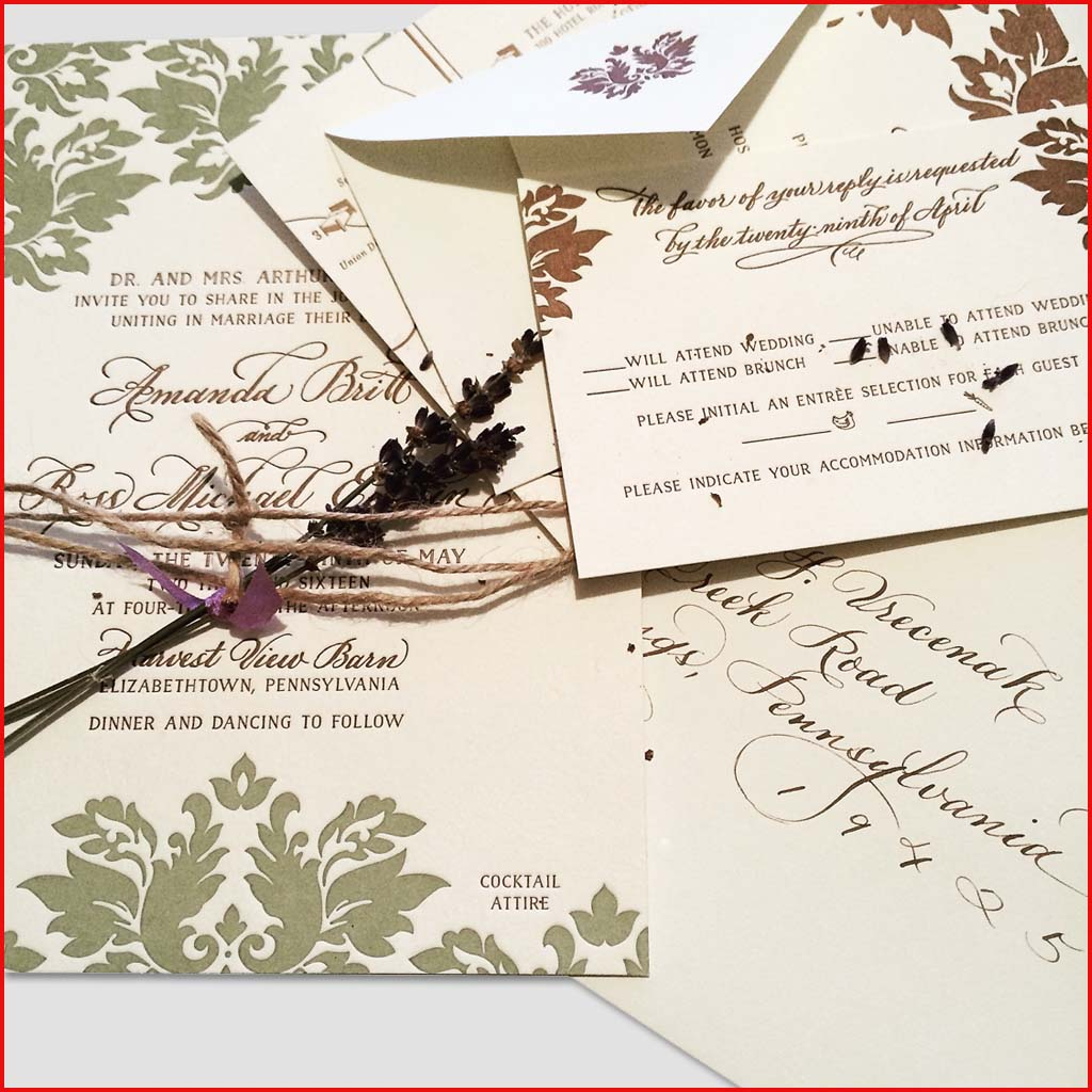 MJW Calligraphy | Michael Weinstein | Invitations 17