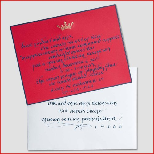 MJW Calligraphy | Michael Weinstein | Corporate Invitations 01