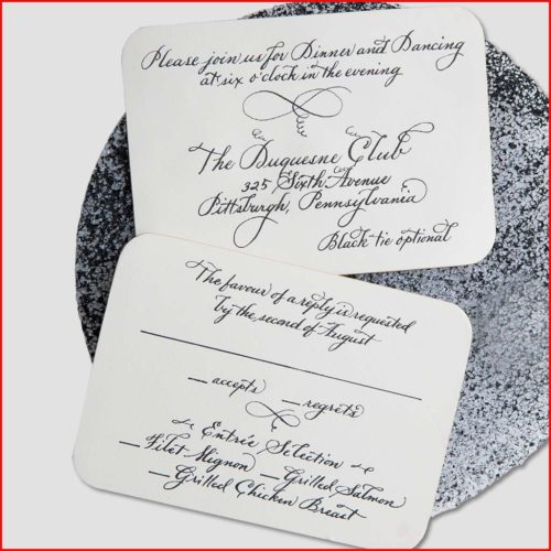 MJW Calligraphy | Michael Weinstein | Corporate Invitations 02