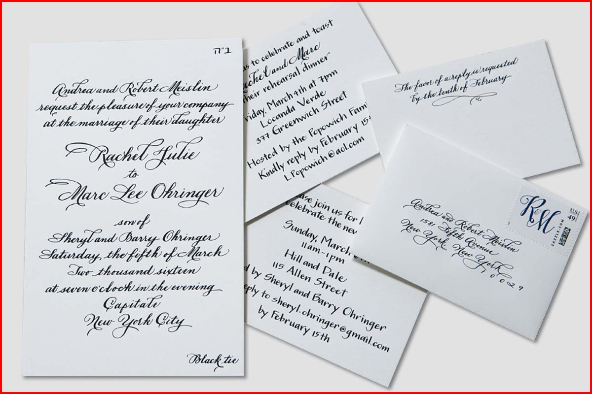 MJW Calligraphy | Michael J. Weinstein | Meislin Wedding 2 edited