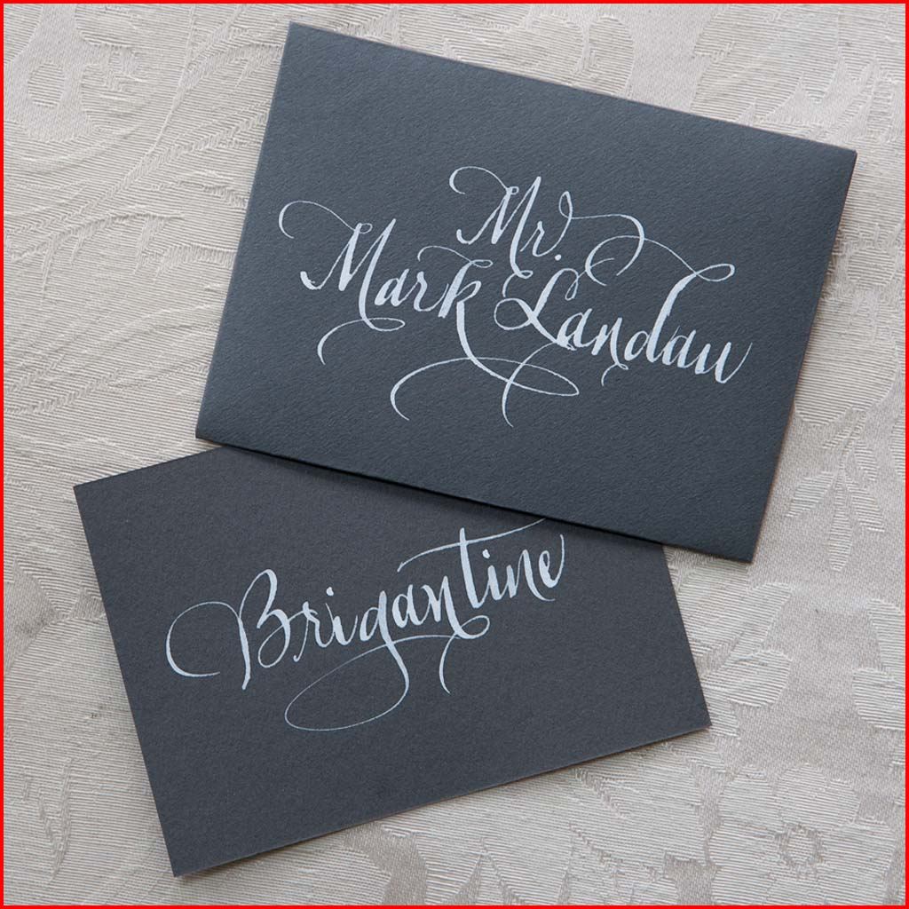 MJW Calligraphy | Michael Weinstein | PLACE CARDS 05