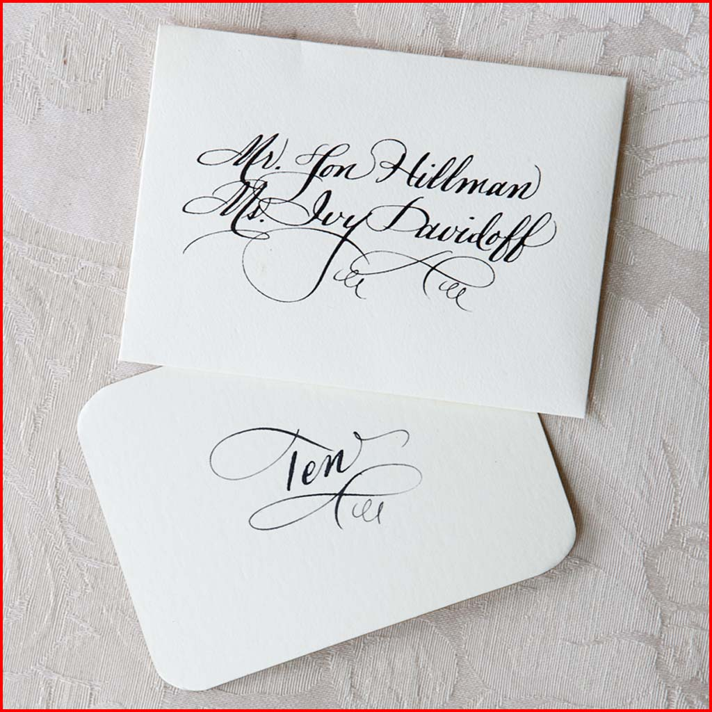 MJW Calligraphy | Michael Weinstein | PLACE CARDS 09