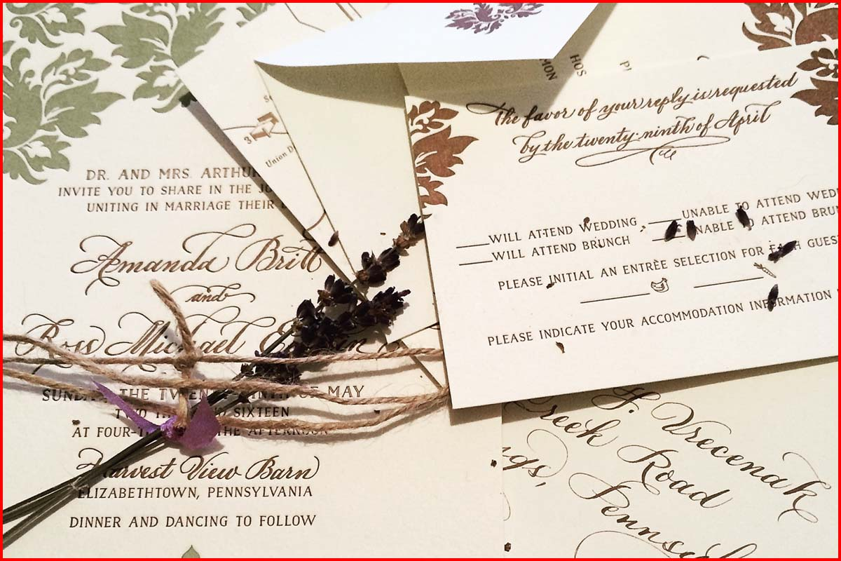 MJW Calligraphy | Michael Weinstein | Vrecenak Wedding 1